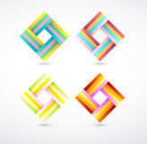 Vector colorful ribbon style graphic Stock Photo