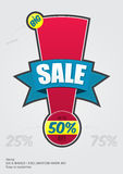 Sale Badge | Exclamation Mark #01. Vector colorful sale badge which can be used as sale poster Royalty Free Stock Photos