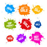 Vector Colorful Sale Blots Icons Set Royalty Free Stock Photography
