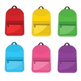 Vector Colorful School Backpacks. vector illustration