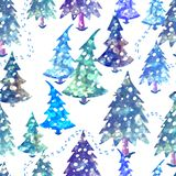 Colorful seamless pattern with Christmas tree. Vector colorful seamless background with Christmas tree. Modern illustration. Can be used for wallpaper, pattern Royalty Free Stock Images