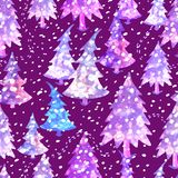 Colorful seamless pattern with Christmas tree. Vector colorful seamless background with Christmas tree. Modern illustration. Can be used for wallpaper, pattern Royalty Free Stock Photos