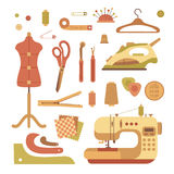 Vector colorful sewing machine illustration. Royalty Free Stock Photo