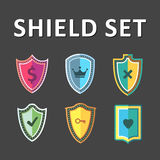 Vector Colorful Shields Royalty Free Stock Photography
