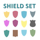 Vector Colorful Shields Set Royalty Free Stock Images