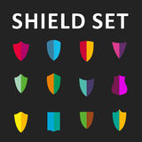 Vector Colorful Shields Set Stock Image