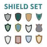 Vector Colorful Shields Set Royalty Free Stock Image