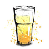 Vector colorful sketch of beer cup. Vector colorful illustration of hand drawn sketch of beer mug Royalty Free Stock Images