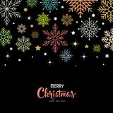 Vector colorful snowflake for Merry Christmas background Stock Photo