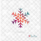 Vector colorful snowflake on winter background of  Stock Images