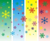 Vector Colorful snowflakes Stock Image