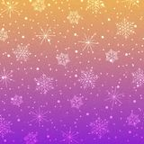 Snowflakes-07. Vector colorful snowflakes background. Snowflake vector. Christmas decoration effect stock illustration