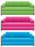 Vector colorful sofas Royalty Free Stock Images