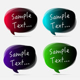 Vector colorful speech bubble. Royalty Free Stock Photos