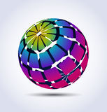Vector colorful sphere. 3d abstract vector colorful sphere vector illustration
