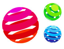 Vector colorful sphere icons Stock Photography