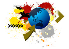 Vector colorful Splatter with earth on white Stock Photos