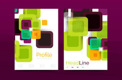 Vector colorful square business annual report cover Stock Photo