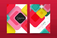 Vector colorful square business annual report cover Royalty Free Stock Photo