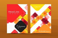 Vector colorful square business annual report cover. Brochure template Royalty Free Stock Photo