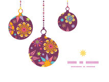 Vector colorful stars Christmas ornaments Stock Photography