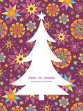 Vector colorful stars Christmas tree silhouette Royalty Free Stock Photo
