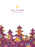 Vector colorful stars Christmas tree silhouette Royalty Free Stock Images