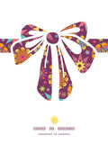 Vector colorful stars gift bow silhouette pattern Royalty Free Stock Images