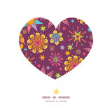 Vector colorful stars heart silhouette pattern. Frame graphic design Stock Photos