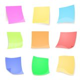 Vector colorful stick note isolated on white Royalty Free Stock Image