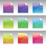 Vector Colorful Stickies Stock Photos