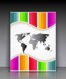Vector colorful striped brochure Royalty Free Stock Photography