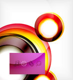 Vector colorful swirl motion design concept Royalty Free Stock Photos