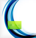Vector colorful swirl motion design concept Stock Image