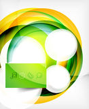 Vector colorful swirl motion design concept Stock Images