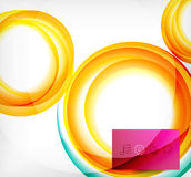 Vector colorful swirl motion design concept Royalty Free Stock Images