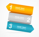 Vector colorful text box 1,2,3 concept Stock Image