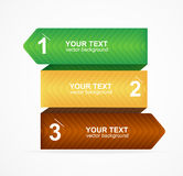 Vector colorful text box 1,2,3 concept Stock Photography