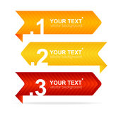 Vector colorful text box 1,2,3,4 concept Royalty Free Stock Photos