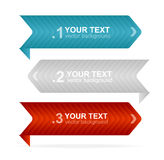Vector colorful text box 1,2,3 concept Royalty Free Stock Photo