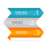 Vector colorful text box 1,2,3 concept Royalty Free Stock Photography