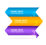 Vector colorful text box 1,2,3 concept Stock Photos