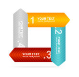 Vector colorful text box 1,2,3,4 concept Stock Images