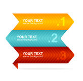 Vector colorful text box 1,2,3 concept Royalty Free Stock Images