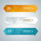 Vector colorful text box Royalty Free Stock Photography