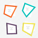Vector colorful text box Stock Photo
