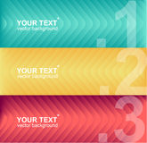 Vector colorful text boxes, infographics Stock Image