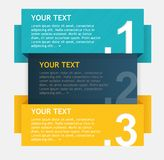 Vector colorful text boxes, options banner Stock Photos