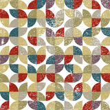 Vector colorful textile abstract seamless pattern Royalty Free Stock Images