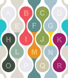Vector colorful texture with alphabet Royalty Free Stock Image